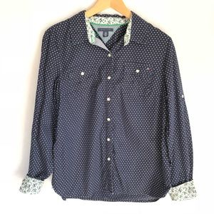 Tommy Hilfiger buttons Down Shirt Women's L Top